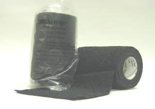 3M 722551 VETRAP Bandaging Tape Bulk Black, 4 Inchx5 yd by 3M