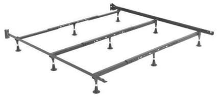 Strobel Organic Heavy Duty Metal Bed Frame For Regular Beds Or Waterbeds King Queen