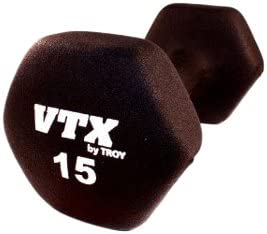 Troy Barbell VTX Neoprene Dumbbell 15 -Pounds