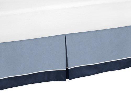Toddler Bed Skirt for Ocean Blue Kids Childrens Bedding Sets by Sweet Jojo Designs
