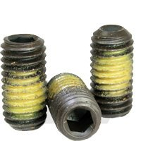 (1000pcs) #8-32x1/4'' Socket Set Screw, Cup Point, Nylon Patch, Alloy Steel, Thermal Black Oxide, (inch), Size: #8-32, Length: 1/4'', Coarse Thread (UNC), RoHS by Jet Fitting & Supply Corp