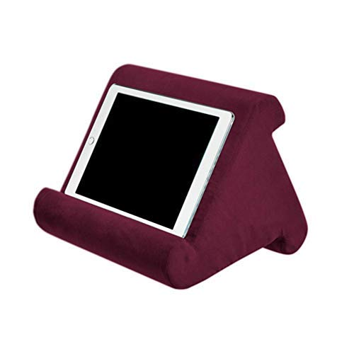 Pillow Stand for Tablet Book Rest Reading Support Cushion for Home Bed Sofa Multi-Angle Soft Pillow Lap Stand Tablet Stand Pillow Couch Pillow Stand eReaders (red)