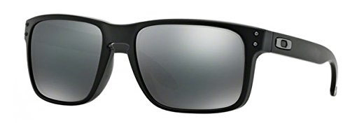 Oakley Holbrook Sunglasses (One Size, Matte Black Frame Black Mirror - Matte Sunglasses Black Oakley Holbrook