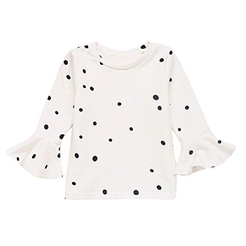 Cheap DORIC Baby Girls Soft Long Sleeve Dot Soft Toddler Kids Tops Shirt Clothes