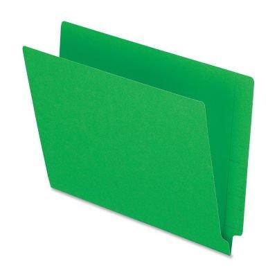 (End Tab File Folder,3/4 quot; Exp.,11 pt.,Letter,100/BX,Green)