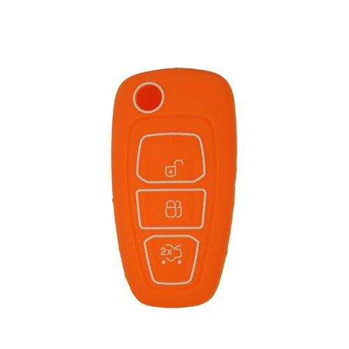 Fu's store(TM) New arrival Silicone Cover Holder for 2011-2013 FORD Focus Mondeo Fiesta Flip Remote Key Fob Entry Folding Flip Shell Remote Protective Case multicolor (Fiestas Halloween En Casa)
