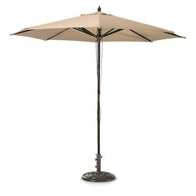 Castlecreek 9ft. Market Patio Umbrella, Khaki - Umbrella base sold separately. 7ft.9in.H 9ft. diameter of coverage - shades-parasols, patio-furniture, patio - 312AcSp9DQL. SS400  -