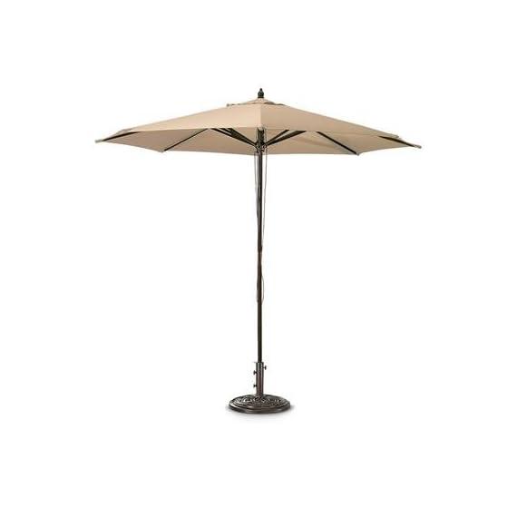Castlecreek 9ft. Market Patio Umbrella, Khaki - Umbrella base sold separately. 7ft.9in.H 9ft. diameter of coverage - shades-parasols, patio-furniture, patio - 312AcSp9DQL. SS570  -