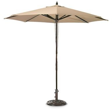 Castlecreek 9ft. Market Patio Umbrella - Khaki