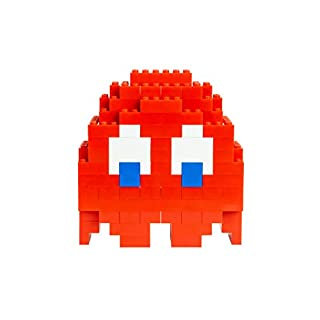 Strictly Briks Pac-Man & BANDAI NAMCO Entertainment Inc | Pac-Man Classic Briks Blinky Ghost - 116 Pieces Classic Briks 3D Build