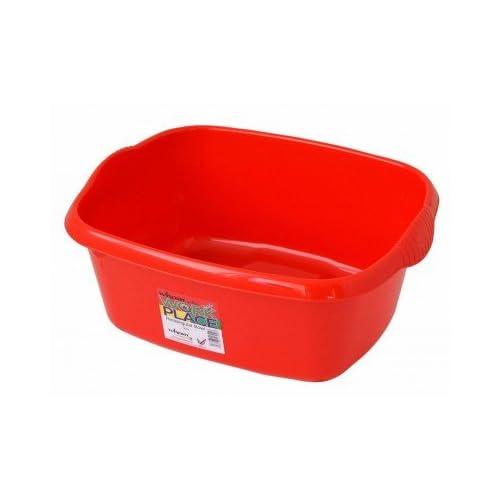 Large Rectangular Washing-up Bowl - Red