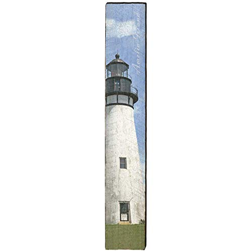 - Amelia Island Lighthouse Home Decor Art Print on Real Wood (9.5