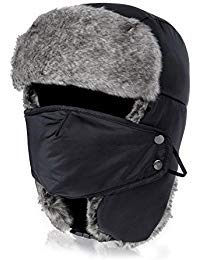 Vbiger Trapper Hat with Ear Flaps Nylon Windproof Winter Warm Hunting Hats for Men & WomenVbiger Trapper Hat with Ear Flaps Nylon Windproof Winter Warm Hunting Hats for Men & -