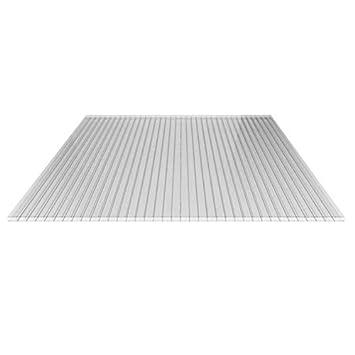 Stegplatte Hohlkammerplatte Doppelstegplatte Material Acrylglas Breite 980 Mm Starke 16 Mm Farbe Glasklar Amazon De Baumarkt