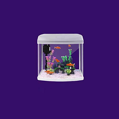 Glass Aquarium Fish Tank with Water Pump Filter Home Office Desktop Decoration House Shape goldfish Breeding Box Home Decor   c180730555, 36.5x24x38cm