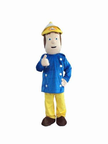 [Professional Fireman Sam Mascot Costumes Fancy Dress Halloween Party Adult Size] (Fireman Sam Costume 2-3)