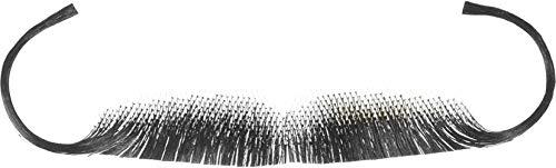 Forum Novelties Men's Snidely Whiplash Human Hair Mustache, Gray, One Size