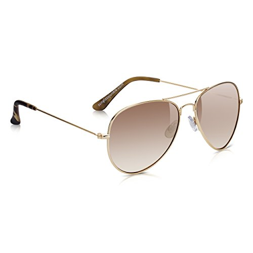 Sunglass Miroir Or Gun de Lunettes unisexes Or et Soleil Junkie Top Aviator rw7vqrO