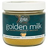Gaia Herbs Golden Milk, 3.7 oz powder (turmeric). (2 pack).