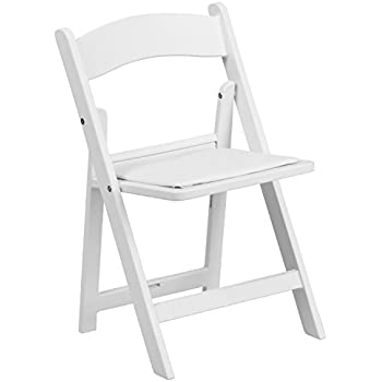 Awesome Flash Furniture Kids White Resin Folding Chair With White Vinyl Padded Seat