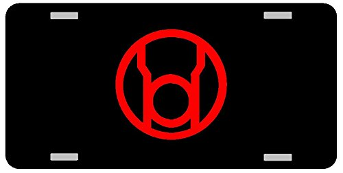 Red Lantern Logo License Plate Gloss black
