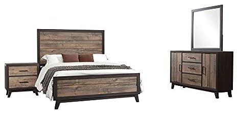 Awe Inspiring Amazon Com Calista 4 Piece Bedroom Set King Rustic Download Free Architecture Designs Scobabritishbridgeorg