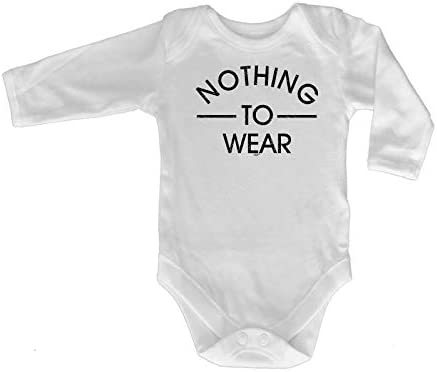 Nothing To Wear Funny Baby Infants Babygrow Romper Jumpsuit