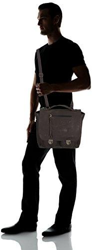 Frankies Garage Workers Bag B21312113-020 Herren Henkeltaschen 34x30x13 cm (B x H x T) Braun (Darkbrown 020)