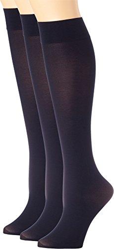 - HUE Women's Soft Opaque Knee High 3-Pack Navy 2