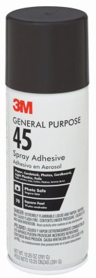 General Purpose Spray Adhesive - 3M 45 Spray Adhesive, 10.25-oz. - Quantity 6