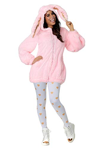Women's Fuzzy Pink Bunny Costume Small -