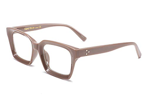 FEISEDY Classic Oprah Square Eyewear Non-prescription Thick Glasses Frame for Women B2461 ()