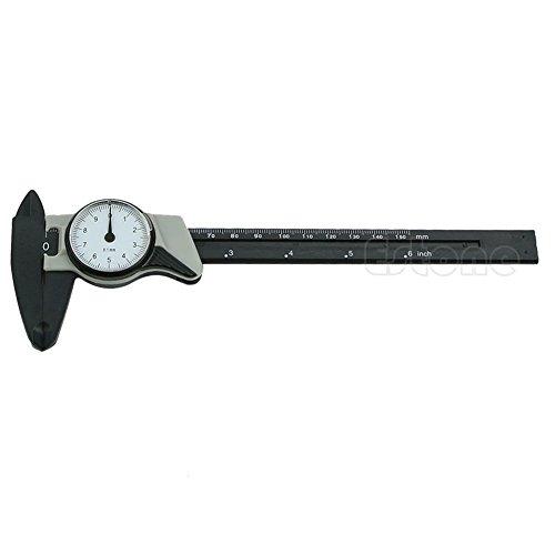 Kocome 150mm 6inch Dial Caliper Plastic Vernier Caliper 4 Way Gauge Micrometer
