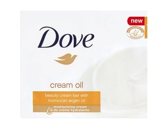 Dove Beauty Bar Soap Cream Oil, 3.5 Oz/100 Gr (Pack of 12 Bars) -