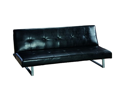 Glory Furniture G116-S Klik Klak Sofa Bed, Black