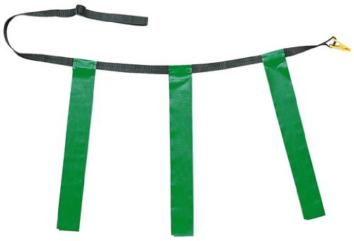 Triple Flag Football Set in Green Set of 12 (Length: 32 in. 39 in.) CHSTFFAGN