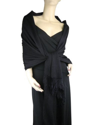 Pashmina / Silk Shawl Black