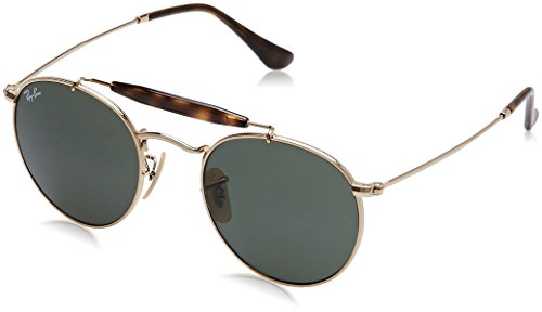 Ray-Ban Metal Unisex Round Sunglasses, Arista, 50 - Popular For Most Men Ray Bans