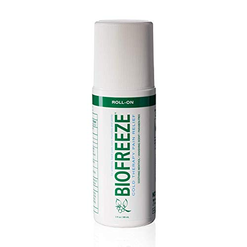 Biofreeze Pain Relief Gel for Arthritis, 3 oz. Roll-on Topical Analgesic, Fast Acting & Long Lasting Cooling Pain Reliever Cream for Muscle, Joint Pain, & Back Pain, Original Green Formula, ()