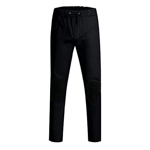 Pantalon Design pantalon Sport Mode Noir Hommes À pantalon Slim Cordon Course Pour Poches Deelin Avec Pantalons Coupe Genou De Jogging Protection Au La SfgqSFR