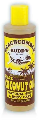 Value Pack Hawaiian Beachcomber Budd Pure Coconut Oil 8 oz. Scented 8 Bottles