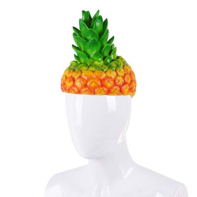 Halloween Mardi Gras Costume Cosplay Silicone Pineapple Fruit Funny Hat for Adult Kids]()