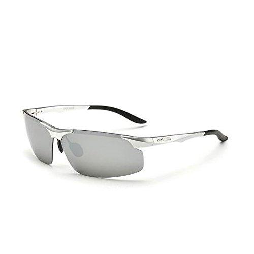 Hombres Gafas Hombres polarizadas de 4 Color UV de 7 Sol Ronda Retro Sol Gafas Gafas Cara Conducción Conducción de DT AYIROqwnn
