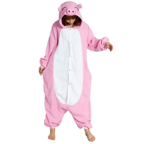 Unisex Adult Pajamas Christmas Costume Snorlax One Piece Pajamas Stitch Onesies Cosplay Pig XL -