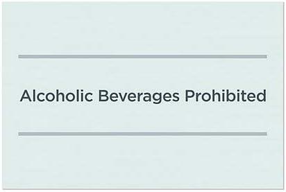 36x24 CGSignLab Alcoholic Beverages Prohibited Basic Teal Window Cling