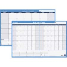 AAGPM23328 - At-a-Glance Recycled 30/60-Day Undated Horizontal Erasable Wall Planner