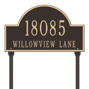 Whitehall Arch Marker Standard 2 Line Custom Lawn Plaque-Personalization, Gift (Marker Arch Whitehall Lawn)