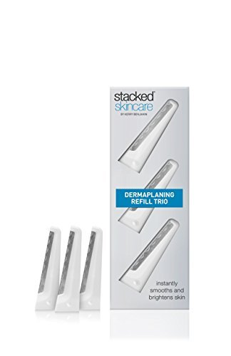 Facial Dermaplaning Tool Refill Kit - Perfect Exfoliating Tool for Smooth, Radiant and Glowing Skin – 3 Razor Refill Trio