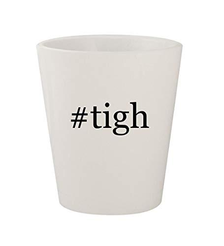 #tigh - Ceramic White Hashtag 1.5oz Shot Glass