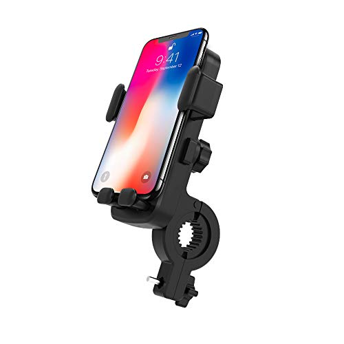 Oture Bike& Motorcycle Phone Mount, Full-Screen Touch 360° Rotation Anti Shake Phone Cell Holder Compatible with iPhone 12/12 Pro/12 Mini/11/11 Pro Max and Other 4.7